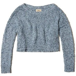 HOLLISTER • blue slouchy chunky knit sweater